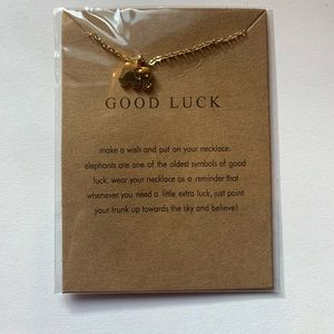 Jewelry - Good Luck Elephant Necklace Gold Small Pendant
